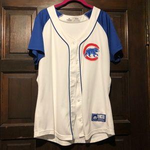 Majestic baseball woman's Jersey Cubs XL GUC